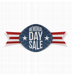Memorial Day Sale Holiday Label vector