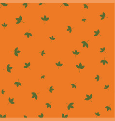 montpelier maple leaf green pattern seamless color vector image