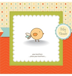New baannouncement card with chicken vector