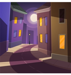 Night city street vector