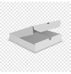 One pizza box icon realistic style vector