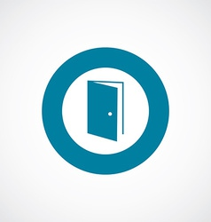 Open door icon bold blue circle border vector