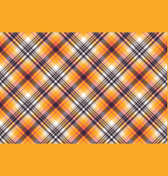 Orange plaid seamless pattern vector