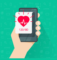 person monitoring heart beat rate and blood vector image