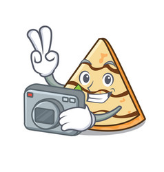Photographer crepe mascot cartoon style vector