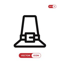 pilgrim icon vector image