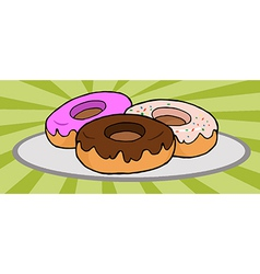 Plate Of Donuts vector