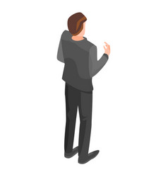 politician man icon isometric style vector image