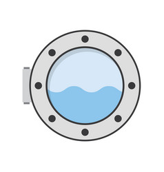 Porthole of ship vector