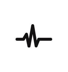 pulse line icon vector image
