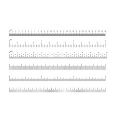 Ruler scale inch and cm measuring scales vector
