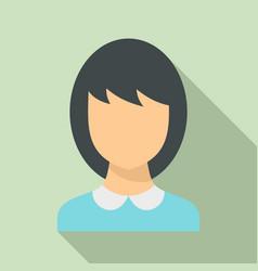 School teacher avatar icon flat style vector