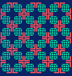 seamless medical abstract pattern with crosses vector image