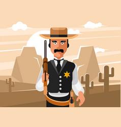 Sheriff wild west vector
