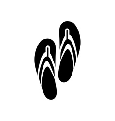 Slippers icon in simple style vector