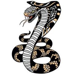 stylized cobra snake vector image