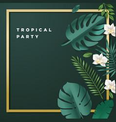 Summer party invitation vector