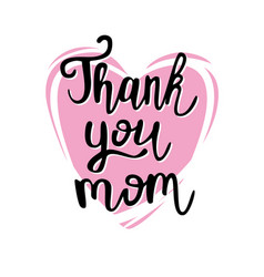 thank you mom poster vector image