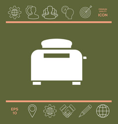 toaster oven icon vector image