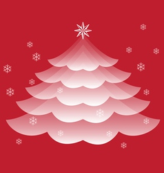 Transparent Christmas Tree vector image