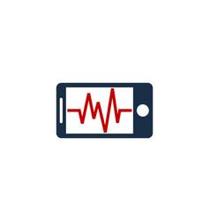 wave mobile logo icon design vector image