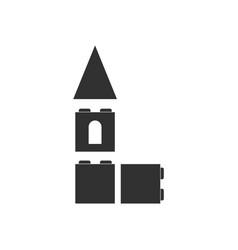 White icon on black background children vector