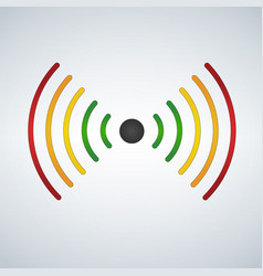wifi or sound waves fades with distance colored vector image