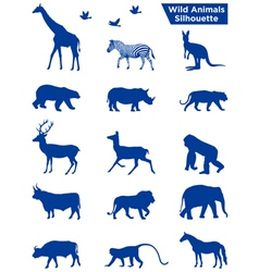 Wild Animals Silhouette vector image