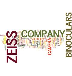 Zeiss binoculars text background word cloud vector