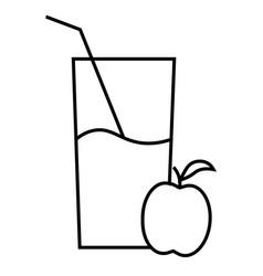 apple juice icon vector image