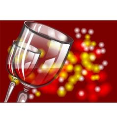 christmas wine vector image vector image