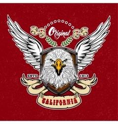 Eagle vintage style logo vector