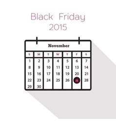 Flat holiday calendar icon vector image vector image