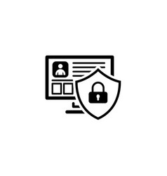 private security icon flat design vector image