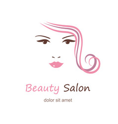 beautiful woman face on white background beauty vector image vector image