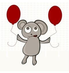 cute bear puppet vector image vector image