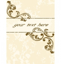 grungy vintage sepia banner vertical vector image