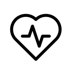 heart icon with pulse line symbol of healthy vector image
