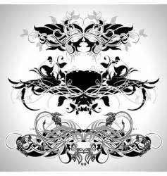 ornamental set vector image