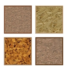 Set boards of cork vector image