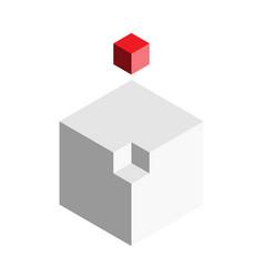 solution design element concept block of 3d cubes vector image vector image