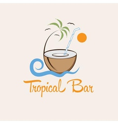 tropical bar design template vector image