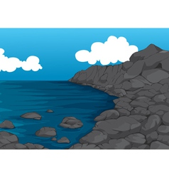 beautiful coast vector image vector image