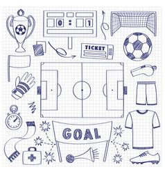 football dodle set vector image