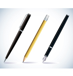pencil and pens vector image vector image