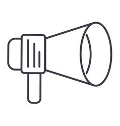 promo loudspeaker sign line icon sign vector image