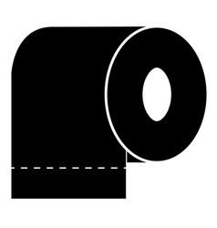 toilet paper icon toilet paper on white vector image