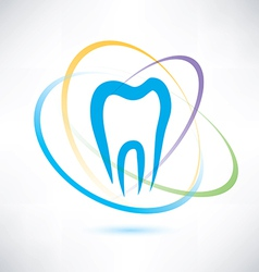 tooth protection abstract symbol vector image
