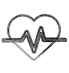 Figure heartbeat cardio vital sign vector