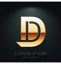 Graphic Elegant Gold Letter D vector image vector image